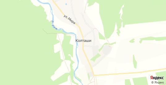 Карта деревни Колташи в Свердловской области с улицами, домами и почтовыми отделениями со спутника онлайн