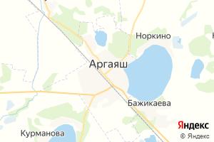 Карта с. Аргаяш Челябинская область
