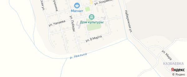 Улица 8 Марта на карте села Коелга с номерами домов