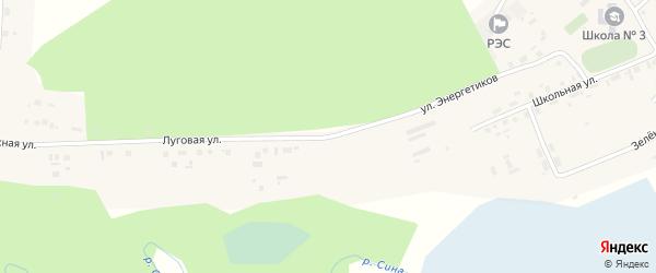 Улица Энергетиков на карте села Тюбука с номерами домов