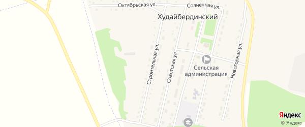 Строительная улица на карте Худайбердинского поселка Челябинской области с номерами домов