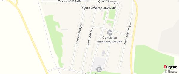 Советская улица на карте Худайбердинского поселка с номерами домов