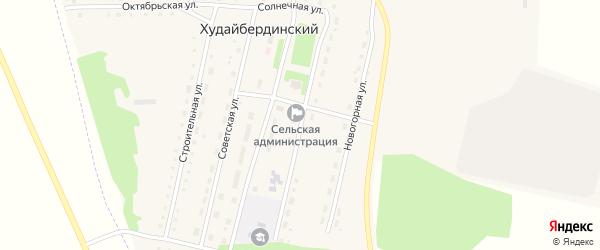 Садовая улица на карте Худайбердинского поселка Челябинской области с номерами домов