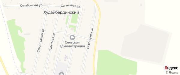Новогорная улица на карте Худайбердинского поселка Челябинской области с номерами домов