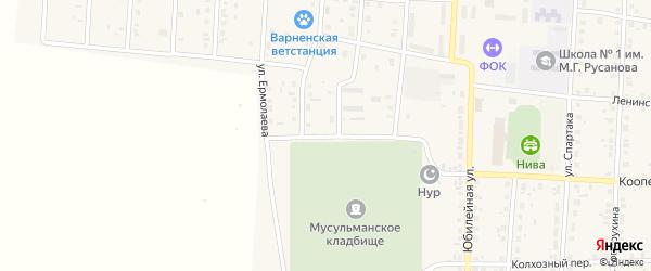 Улица Ермолаева на карте села Варны с номерами домов