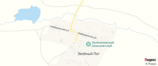 Набережная улица на карте поселка Зеленого Лога Челябинской области с номерами домов
