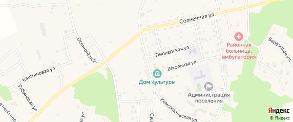 Центральная улица на карте Трубного поселка с номерами домов