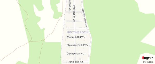 Улица Васильковая (мкр Чистые росы) на карте села Большие Харлуши Челябинской области с номерами домов