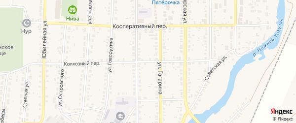 Колхозный переулок на карте села Варны с номерами домов