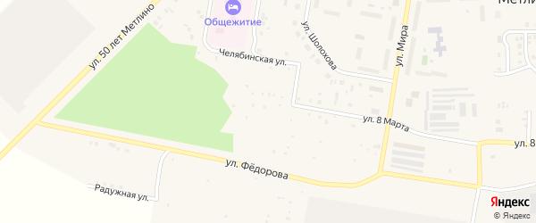 СНТ Уралсад на карте Озерска с номерами домов