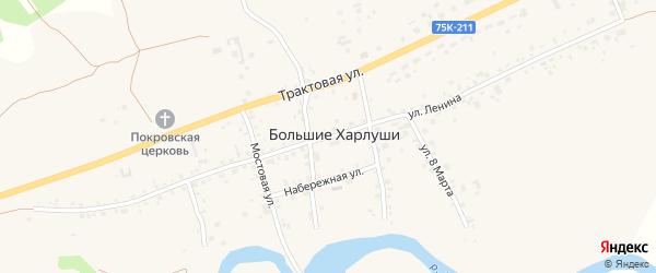 Улица Ленина на карте села Большие Харлуши с номерами домов