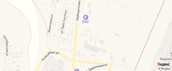 Варненский переулок на карте села Варны с номерами домов