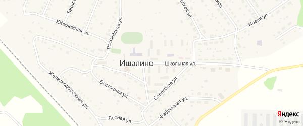 Школьная улица на карте поселка Ишалино с номерами домов