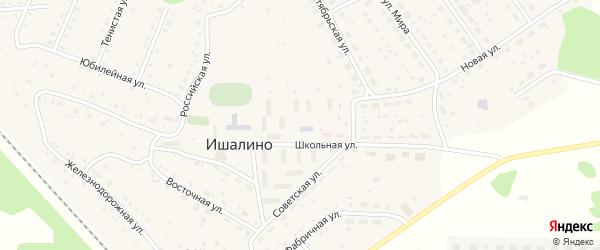 Тенистая улица на карте поселка Ишалино с номерами домов