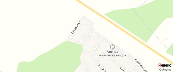 Радужная улица на карте поселка Ишалино Челябинской области с номерами домов