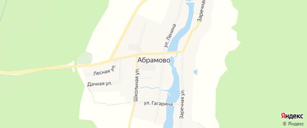 Карта Абрамовского села в Свердловской области с улицами и номерами домов