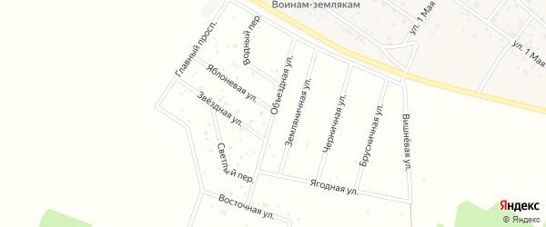 Объездная улица на карте территории Новофомина Свердловской области с номерами домов