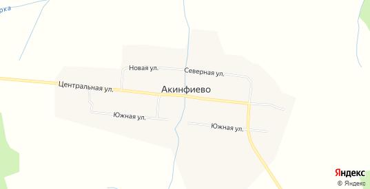 Карта села Акинфиево в Нижней Салде с улицами, домами и почтовыми отделениями со спутника онлайн