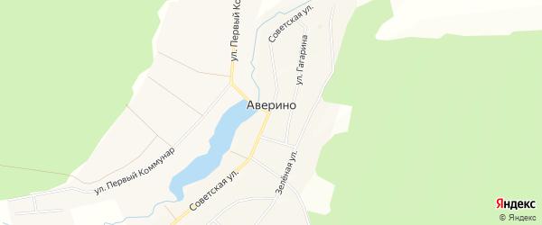 Карта Аверинское села в Свердловской области с улицами и номерами домов