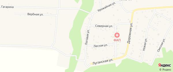 Логовая улица на карте деревни Ключи с номерами домов