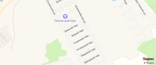 Белый переулок на карте поселка Верхнего Дуброво Свердловской области с номерами домов