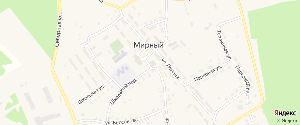 Сад Касарги на карте Мирного поселка с номерами домов