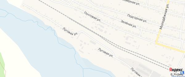 Луговая улица на карте поселка Полетаево с номерами домов