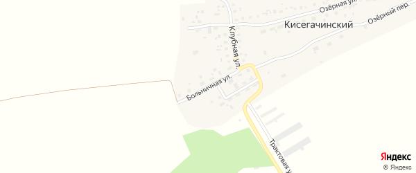 Больничная улица на карте Кисегачинского поселка Челябинской области с номерами домов
