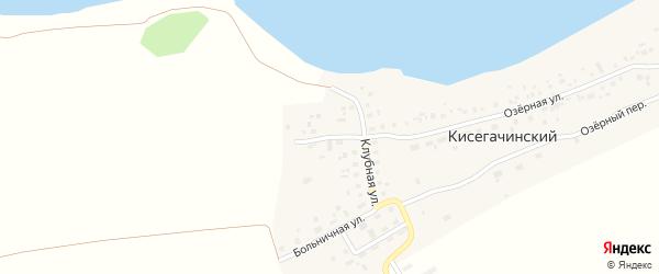 Клубный переулок на карте Кисегачинского поселка Челябинской области с номерами домов