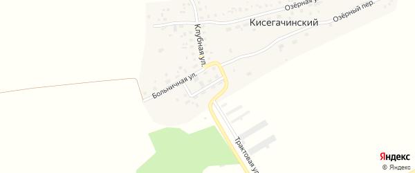 Центральная улица на карте Кисегачинского поселка Челябинской области с номерами домов