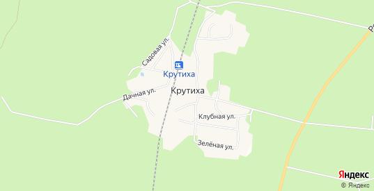Карта поселка Крутиха в Свердловской области с улицами, домами и почтовыми отделениями со спутника онлайн