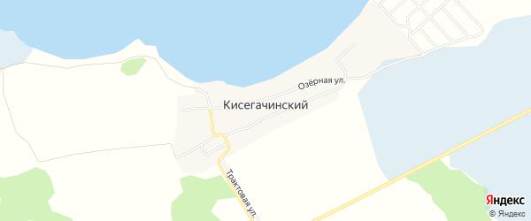 Карта Кисегачинского поселка в Челябинской области с улицами и номерами домов