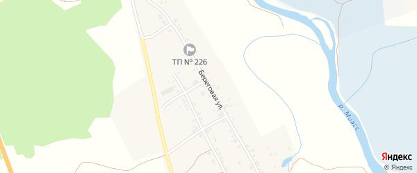 Береговая улица на карте Полетаево I-е села Челябинской области с номерами домов