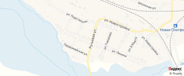 Ручьевая улица на карте поселка Полетаево Челябинской области с номерами домов