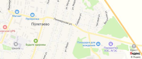 Улица Мира на карте поселка Полетаево с номерами домов