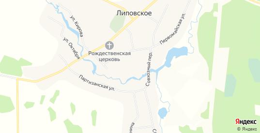 Карта села Липовское в Свердловской области с улицами, домами и почтовыми отделениями со спутника онлайн