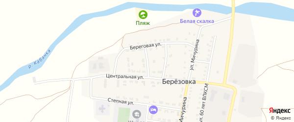 Больничный переулок на карте поселка Березовки с номерами домов