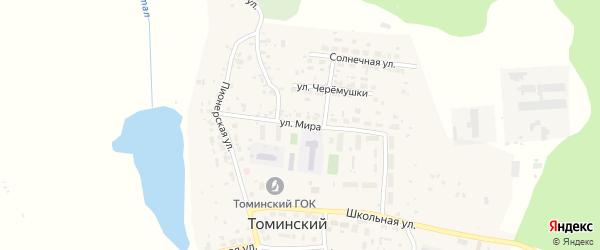 Улица Мира на карте Томинского поселка с номерами домов
