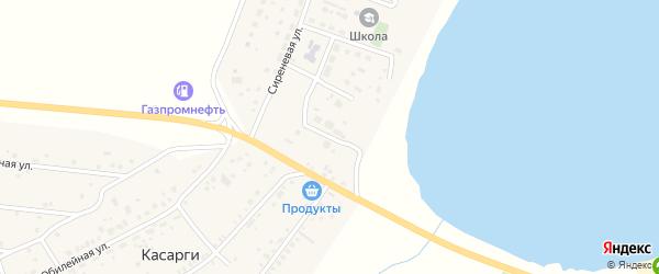 Липовая улица на карте деревни Касарги Челябинской области с номерами домов
