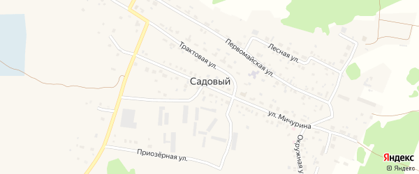 Улица Строителей на карте Садового поселка с номерами домов