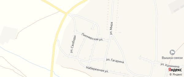 Пионерская улица на карте Красносельского села с номерами домов