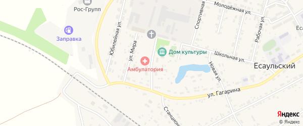 Улица Трактористов на карте Есаульского поселка Челябинской области с номерами домов