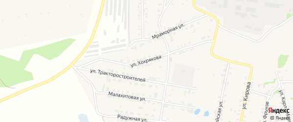 Улица Хохрякова на карте Зауральского поселка с номерами домов