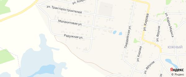 Радужный переулок на карте Зауральского поселка с номерами домов