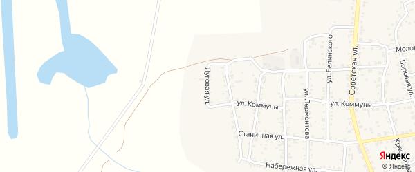 Луговая улица на карте Южноуральска с номерами домов