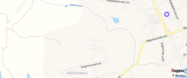 Заречная улица на карте Южноуральска с номерами домов