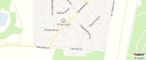 Улица Рябиновая ( жз Урал-Терра ) на карте деревни Малиновки Челябинской области с номерами домов