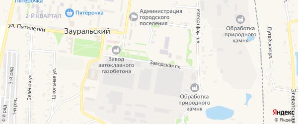 Заводская площадь на карте Зауральского поселка с номерами домов