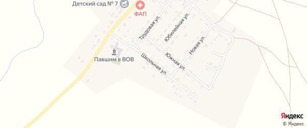 Школьная улица на карте деревни Водопойки Челябинской области с номерами домов