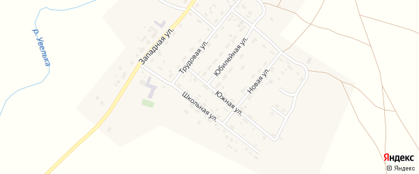 Южная улица на карте деревни Водопойки с номерами домов